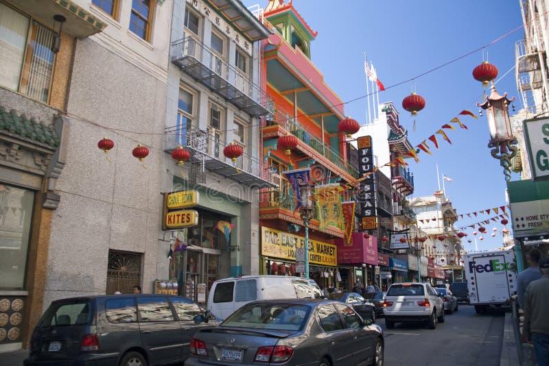 De Stad van China van San Francisco, de V.S. royalty-vrije stock foto's