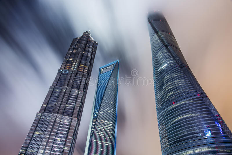 De stad van China van Shanghai royalty-vrije stock afbeelding
