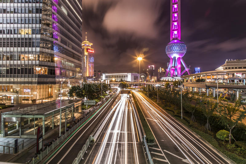 De stad van China van Shanghai stock foto's
