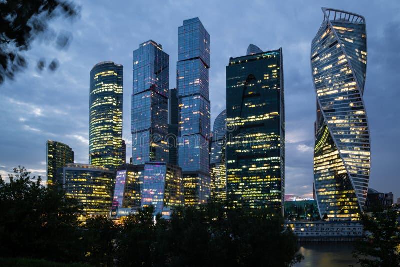 De Stad van commercieel Moskou van het centrum stock foto