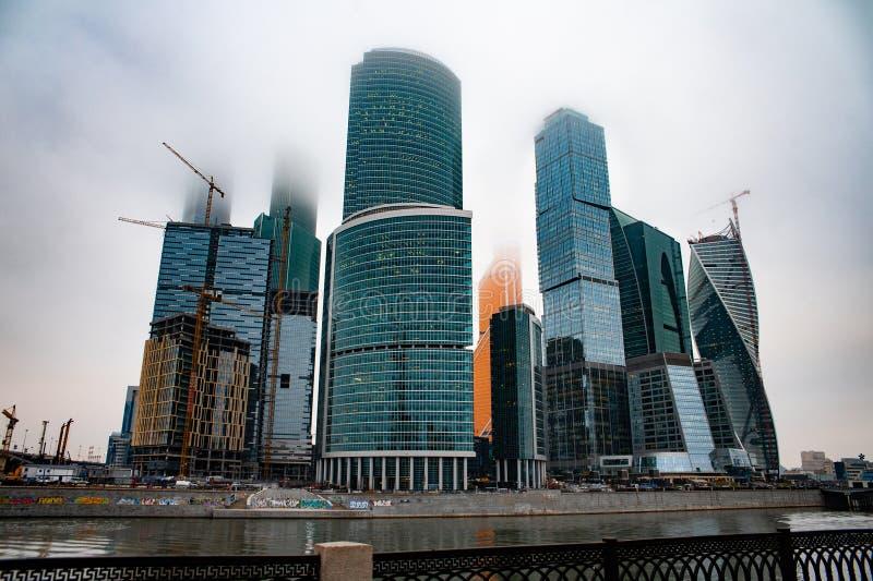 De Stad van commercieel Moskou van het centrum royalty-vrije stock afbeelding