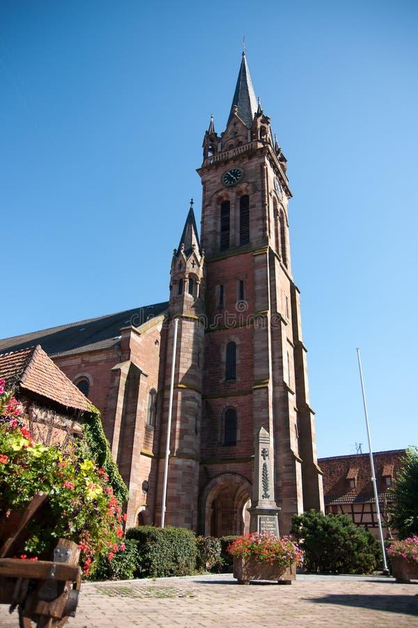 De stad van Dambachla Ville Alsace royalty-vrije stock afbeelding