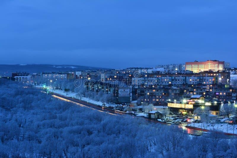 De stad van de avond royalty-vrije stock foto