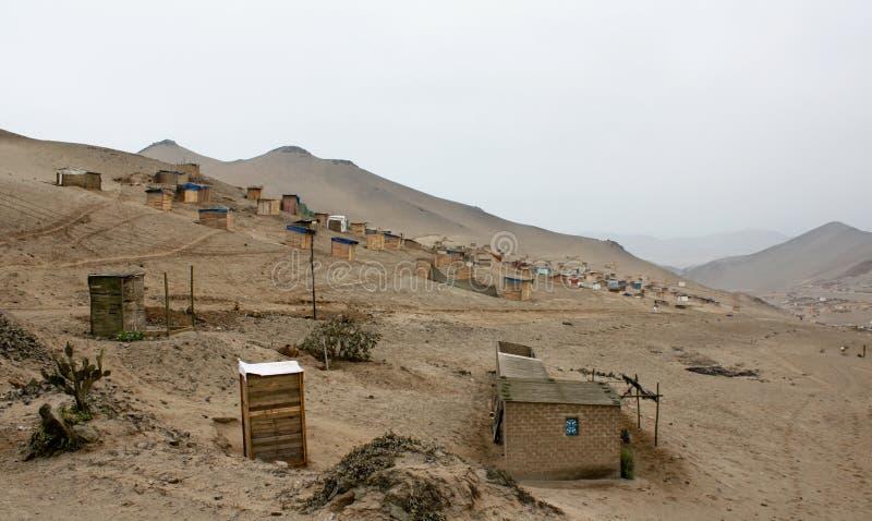 De Stad van de barak in Lima royalty-vrije stock afbeeldingen
