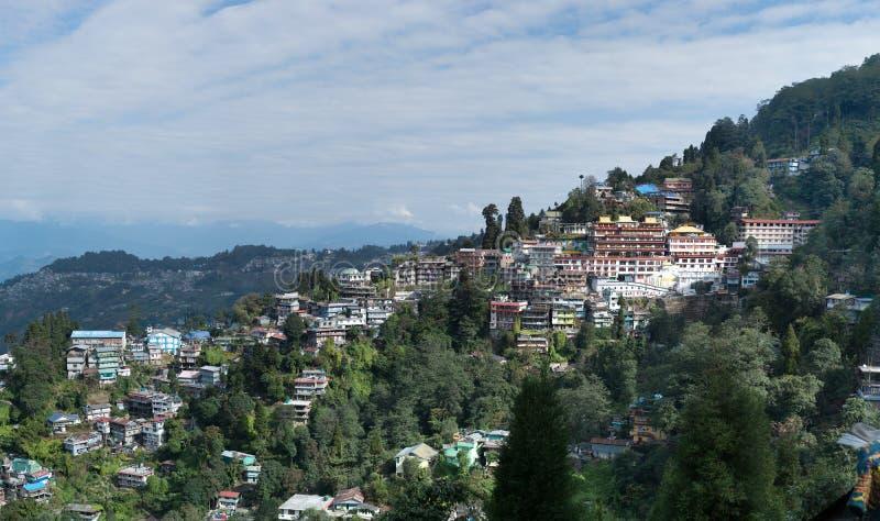 De stad van de Darjeelingsheuvel royalty-vrije stock afbeelding