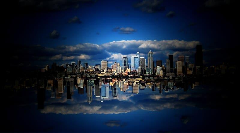 De Stad van de hemel in de Wolken stock foto's