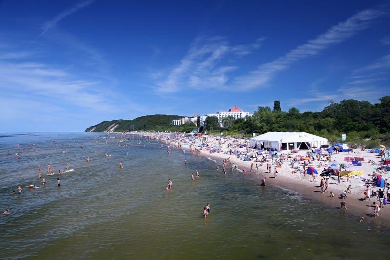 De stad van de kust stock foto's