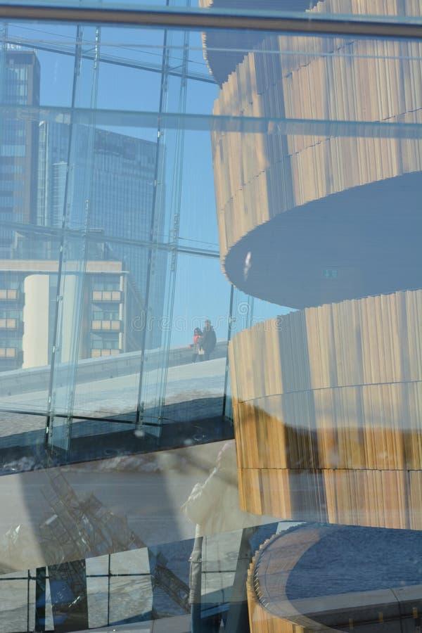De Stad van de Operahouse_oslo van Oslo royalty-vrije stock foto's