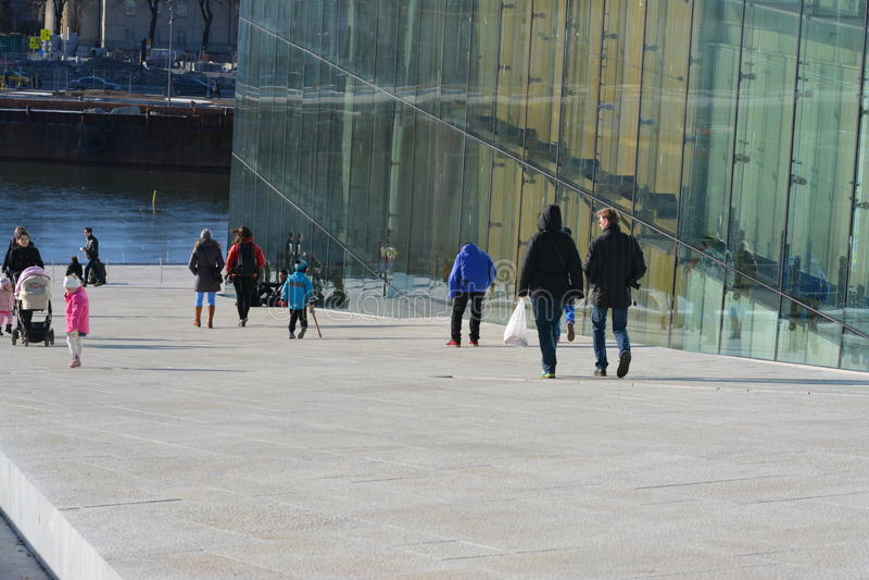 De Stad van de Operahouse_oslo van Oslo royalty-vrije stock fotografie