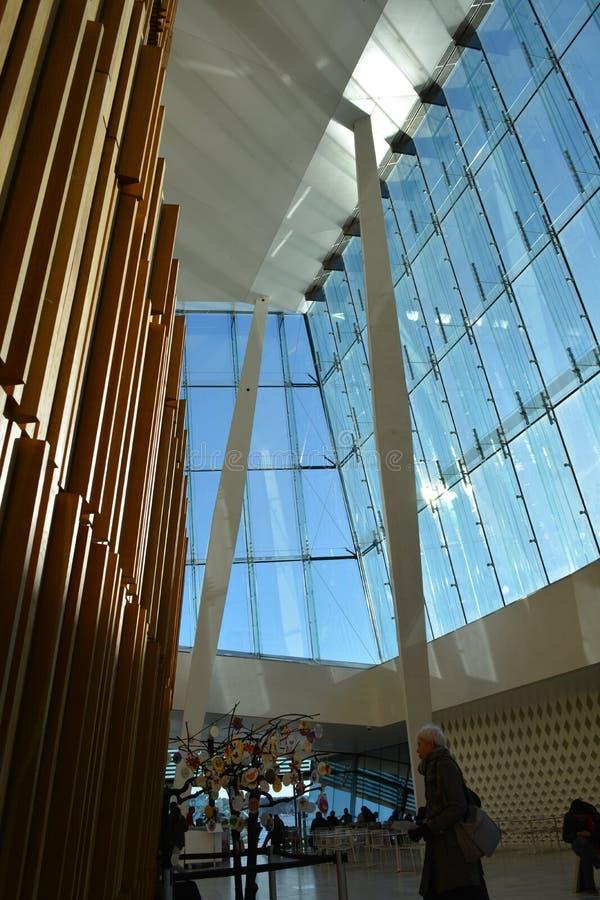 De Stad van de Operahouse_oslo van Oslo stock afbeelding