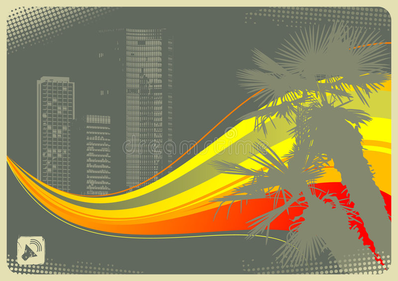 De stad van de palm vector illustratie