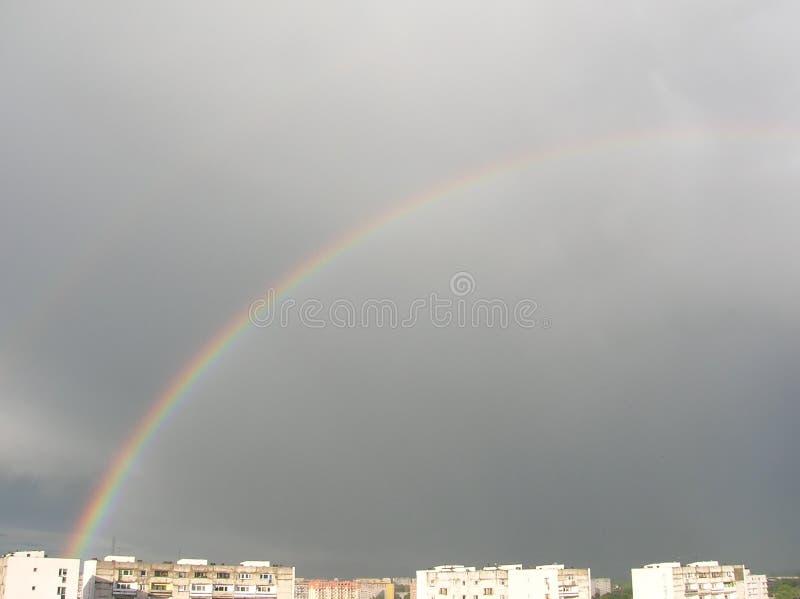 De stad van de regenboog stock afbeeldingen