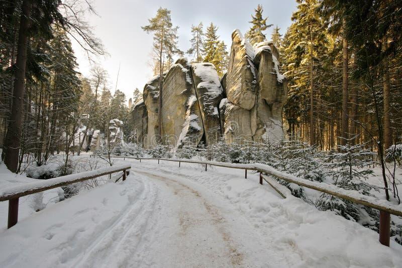 De Stad van de rots royalty-vrije stock afbeelding