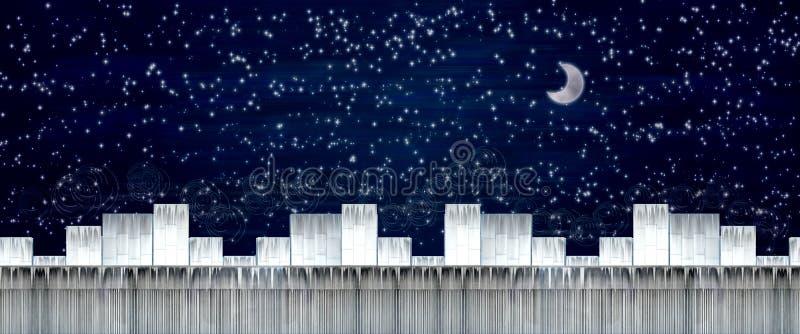 De stad van de ster stock illustratie