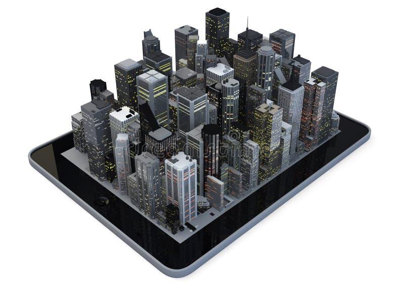 De stad van de tablet