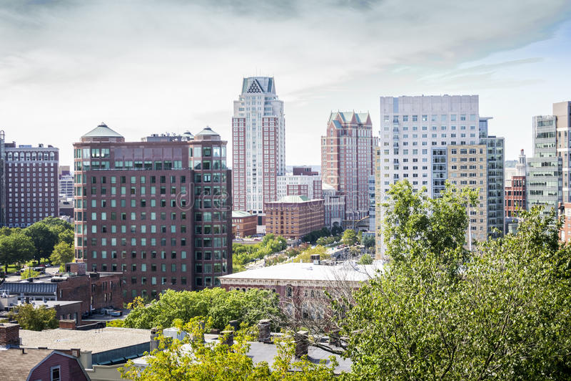 De stad in van de Voorzienigheid van het Oosten, Rhode Island stock foto's