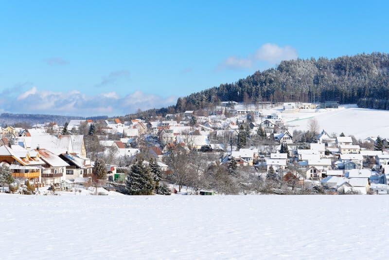 De Stad van de winter, Duitsland royalty-vrije stock foto's
