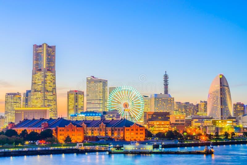 De stad van de Yokohamahorizon royalty-vrije stock foto's