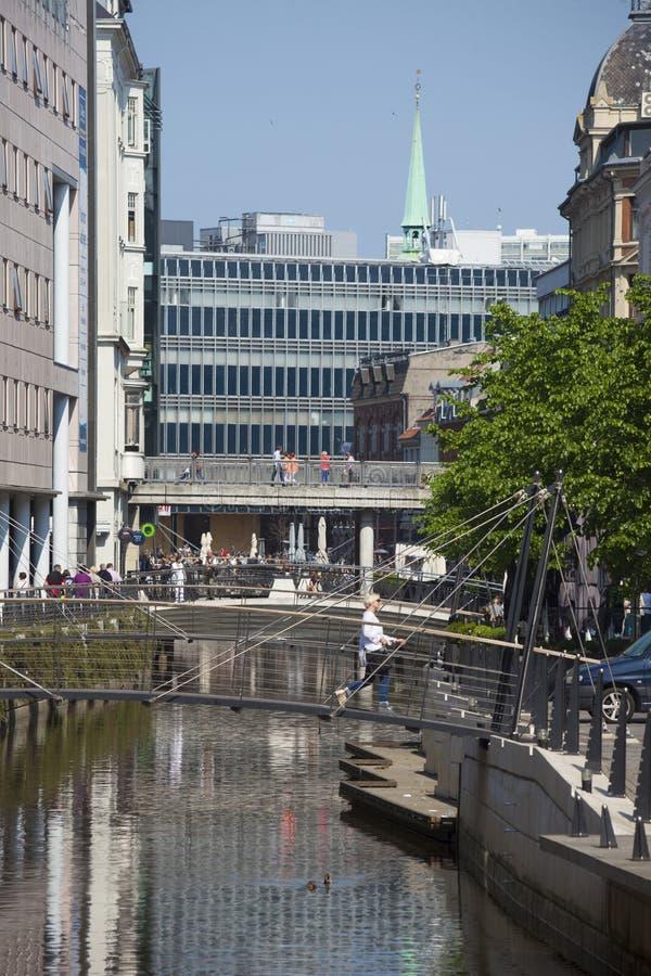 De stad van Denemarken, Arhus royalty-vrije stock fotografie