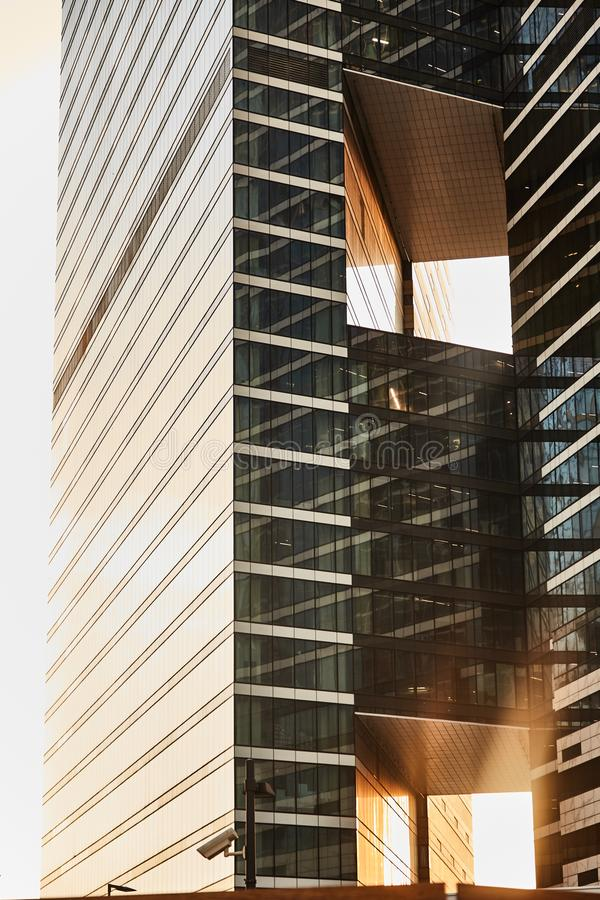 De Stad van districtsmoskou Commercieel centrum Bureaus in wolkenkrabbers royalty-vrije stock fotografie
