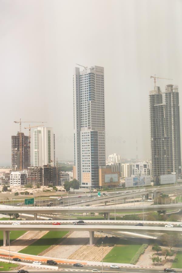 De stad van Doubai stock afbeelding