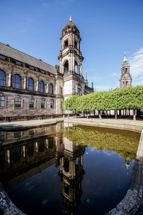De stad van Dresden in Duitsland royalty-vrije stock foto's