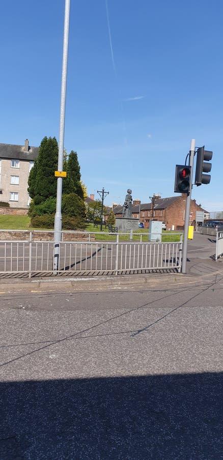 De Stad van Dumfries Dumfriesshire Schotland Historische gebouwen en monumenten royalty-vrije stock foto's