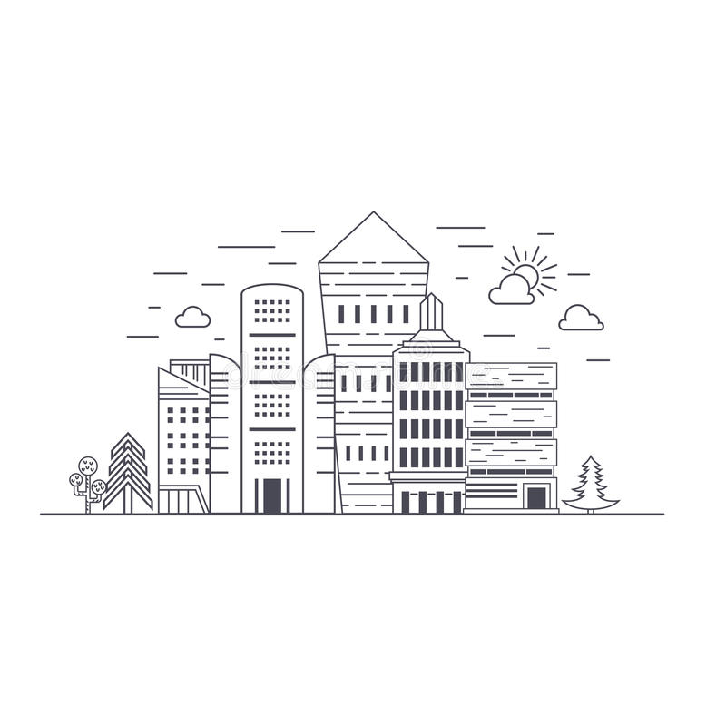 De stad van Eco vector illustratie