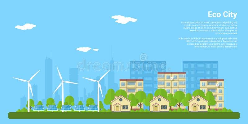 De stad van Eco stock illustratie
