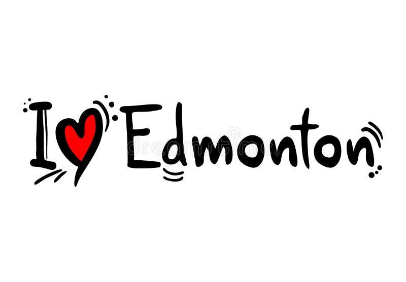 De stad van Edmonton van Canada stock illustratie