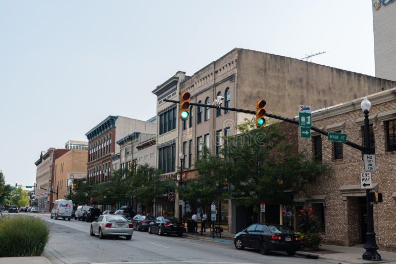 De stad in van een kleine stad in Indiana royalty-vrije stock foto