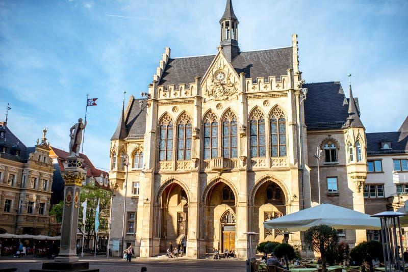 De stad van Erfurt in Duitsland stock afbeeldingen