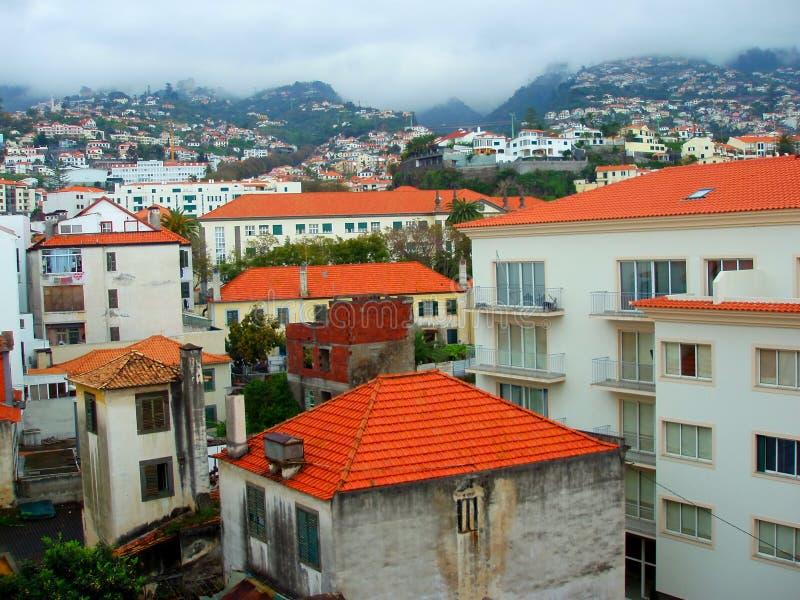 De stad van Funchal stock afbeelding