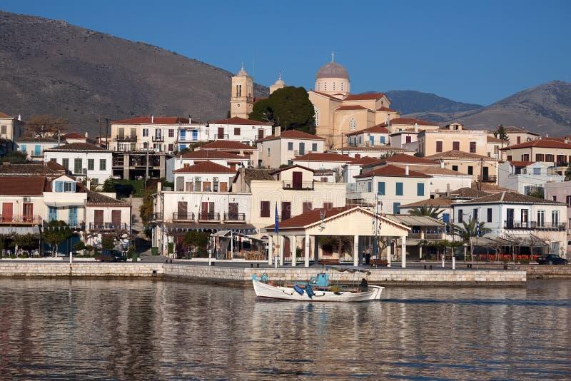 De Stad van Galaxidi, Griekenland stock foto