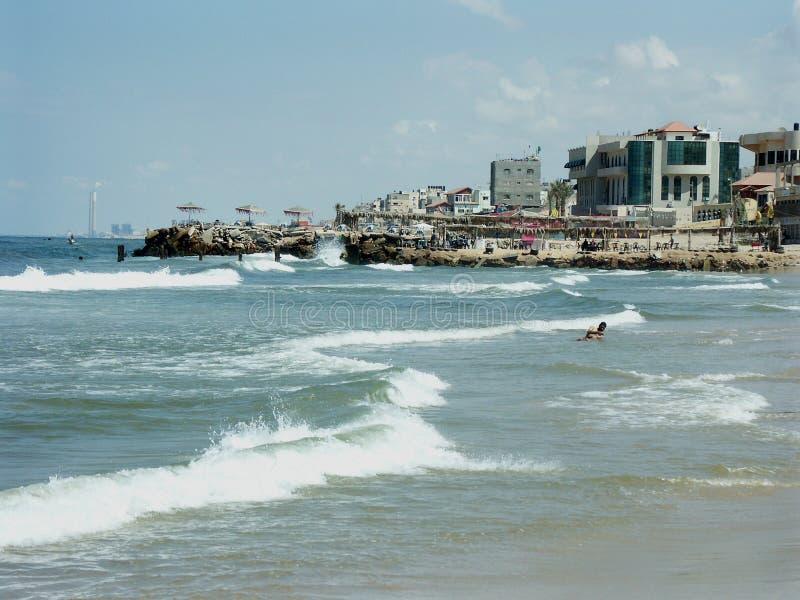 De stad van Gaza royalty-vrije stock afbeelding