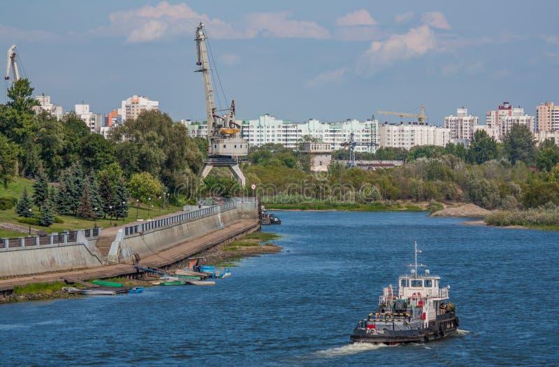 De stad van Gomel, Wit-Rusland stock foto's