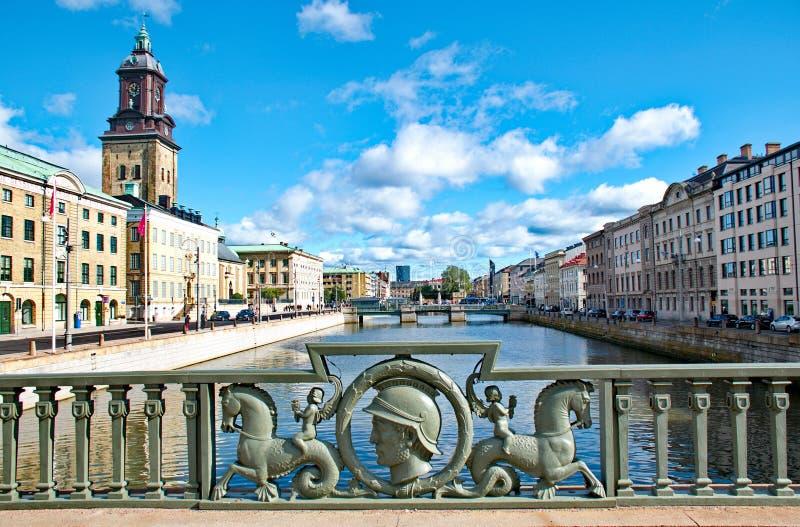 De stad van Gothenburg in Zweden stock foto