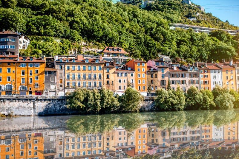 De stad van Grenoble in Frankrijk royalty-vrije stock foto's