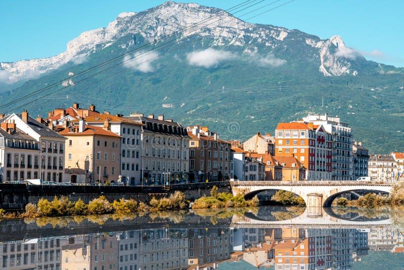 De stad van Grenoble in Frankrijk royalty-vrije stock fotografie