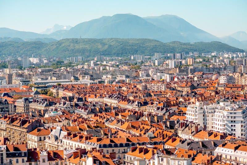 De stad van Grenoble in Frankrijk royalty-vrije stock afbeelding