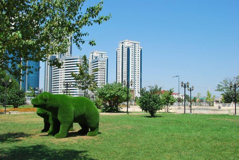 De stad van Grozny de hoofdstad van Tchetchenië royalty-vrije stock foto