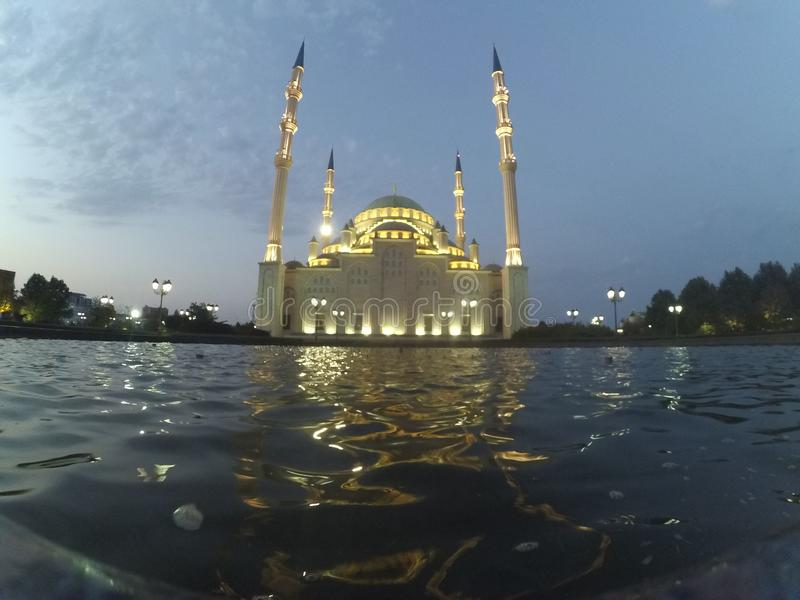 De stad van Grozny in Tchetchenië royalty-vrije stock foto