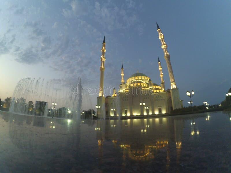 De stad van Grozny in Tchetchenië stock fotografie