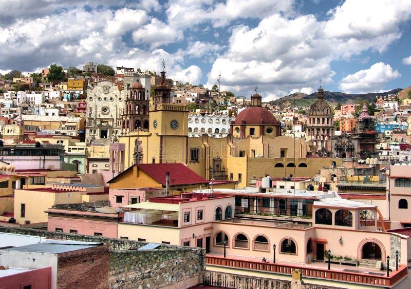 De stad van Guanajuato van de binnenstad stock afbeelding