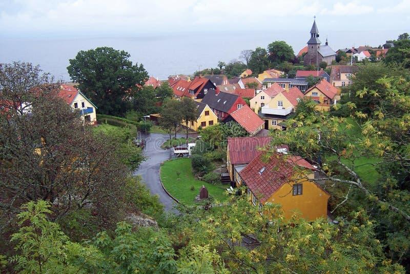 De stad van Gudhjem   royalty-vrije stock foto's