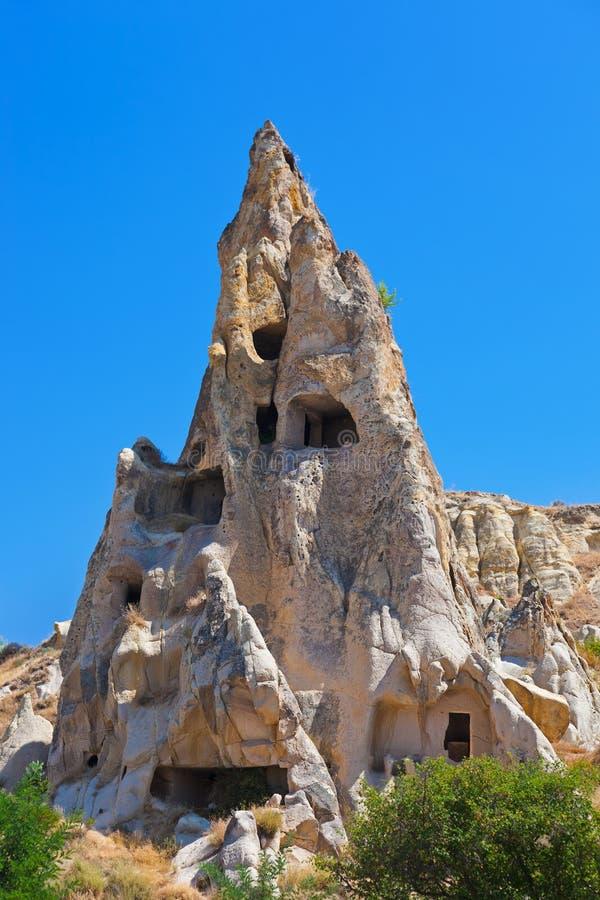 De stad van het Goremehol in Cappadocia Turkije stock fotografie