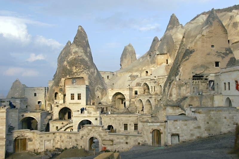 De stad van het hol in Cappadocia stock foto's