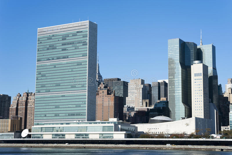 De Stad van het Hoofdkwartiernew york van de Verenigde Naties royalty-vrije stock foto