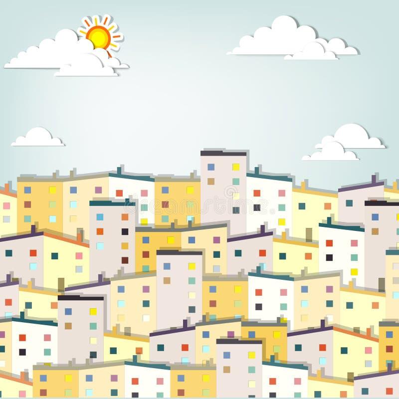 De stad van het panorama vector illustratie
