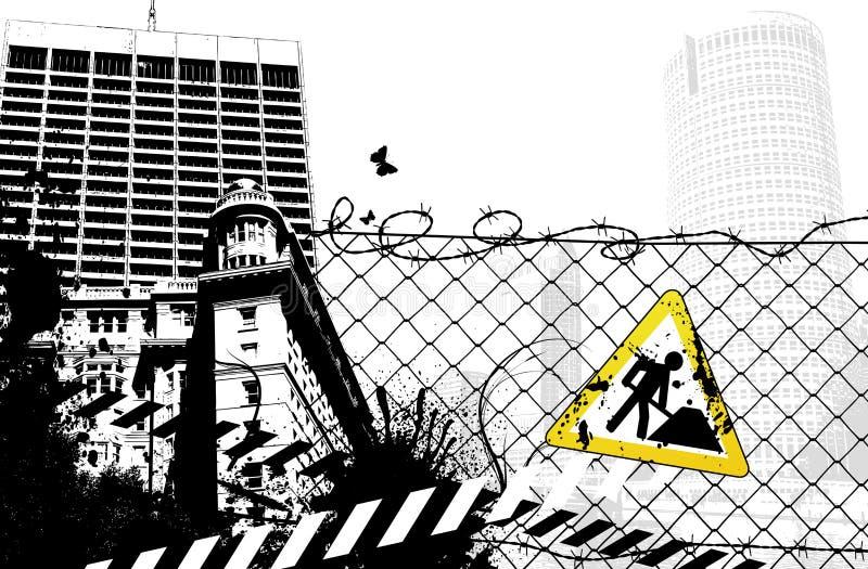De Stad van het Teken van het bouwterrein